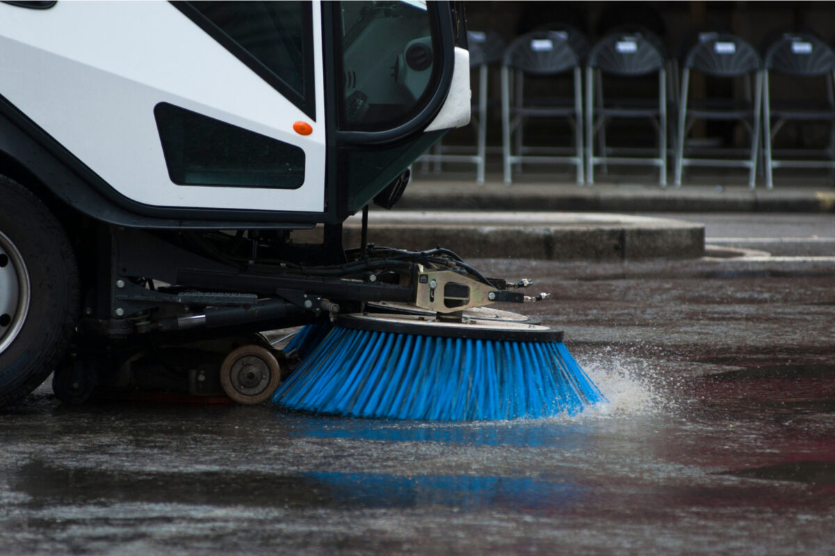 Road sweeper vehicle Dallas