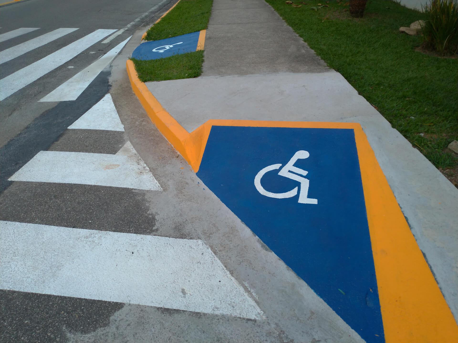 Painted Handicap Ramp In Dallas